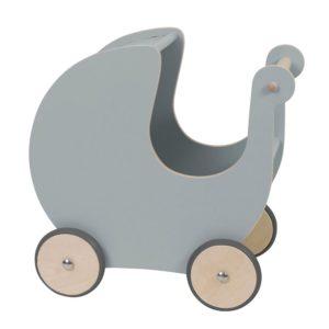 Sebra Puppenkinderwagen aus Holz, grau