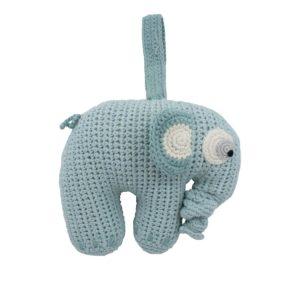 Häkel-Spieluhr, Fanto der Elephant, lagoon blue 3013206 - 01