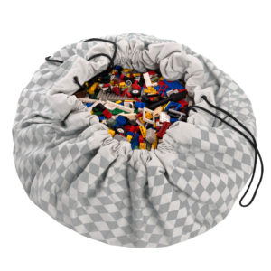 Play&Go Spielzeugsack Grey Diamonds (ø140cm) 01