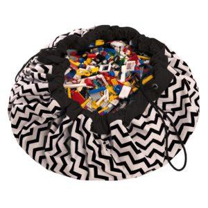 Play&GoSpielzeugsack Zigzag Black (ø140cm) 01