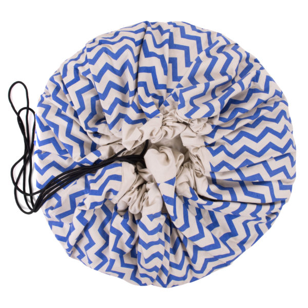 Play&GoSpielzeugsack Zigzag Blue (ø140cm) 01