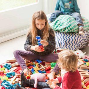 Play&GoSpielzeugsack Zigzag Blue (ø140cm) 03