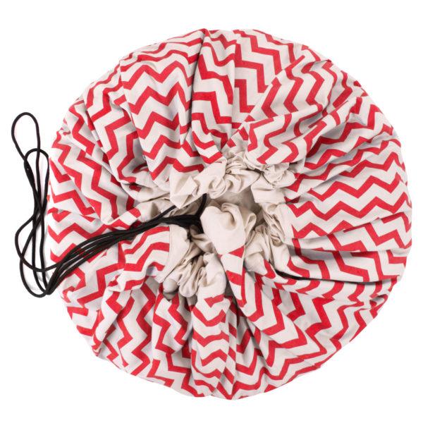 Play&GoSpielzeugsack Zigzag Red (ø140cm)