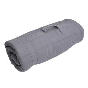 Sebra Spielmatte indoor:outdoor, abgesteppt, storm grey, 140x140cm - 01