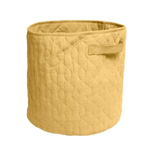 Sebra Spielzeugkorb honey mustard, abgesteppt, 40x40cm