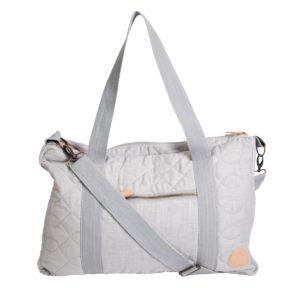 Sebra Wickeltasche mit Schultergurt, abgesteppt, elephant grey außen