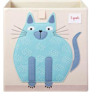 3 sprouts Aufbewahrungsbox Katze, 33x33x33cm