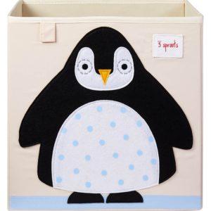 3 sprouts Aufbewahrungsbox Pinguin, 33cm