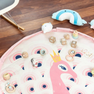 Play&GoSpielzeugsack SpielteppichPeacock Soft (ø120cm) 06
