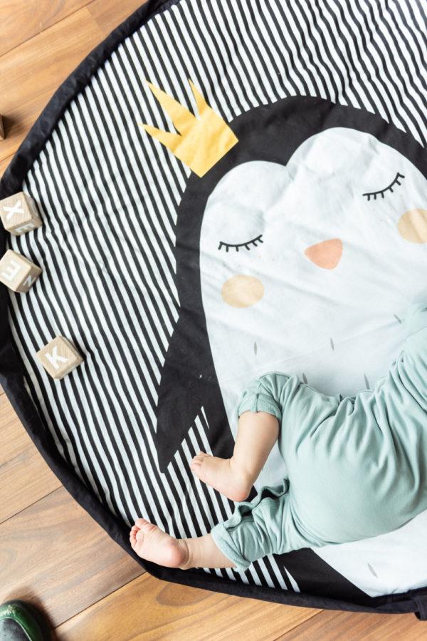 Play&GoSpielzeugsack SpielteppichPinguin Soft (ø120cm) 06