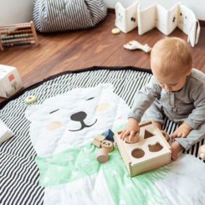 Play&GoSpielzeugsack SpielteppichPolar Bear Soft (ø120cm) 04