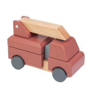 Sebra Feuerwehrauto aus Holz, Stapel-Spielzeug 01