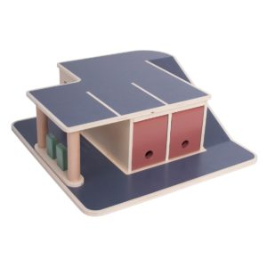 Sebra Garage aus Holz 01
