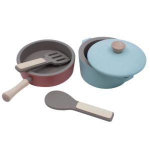Sebra Küchengeräte-Set aus Holz 01