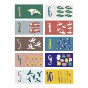 Sebra Little Driver : Singing Birds Puzzle mit Zahlen 01