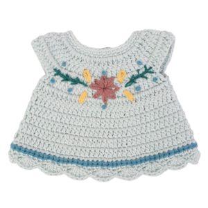 Sebra Puppenkleid, mist blue 01