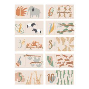 Sebra Wildlife Puzzle mit Zahlen, 1-10 01
