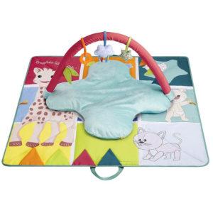 Sophie la Girafe Krabbeldecke mit Spielbogen, tragbar 01