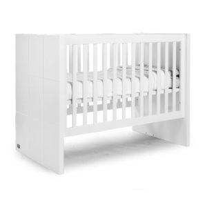 Childhome Babybett Quadro, 60x120cm : 90x200cm, umbaubar, weiß 01