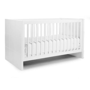 Childhome Babybett Quadro, 70x140cm, umbaubar, weiß 01
