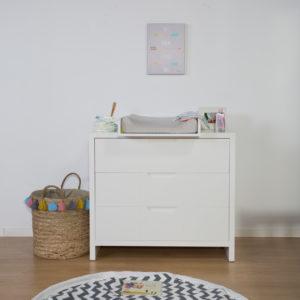 Childhome Babyzimmermöbel-Serie Quadro Wickelkommode