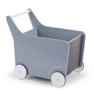 Childhome Lauflernwagen mint, Puppenwagen aus Holz Seitenansicht