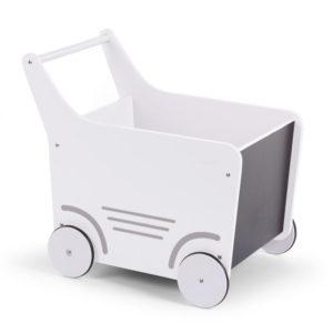 Childhome Lauflernwagen weiß, Puppenwagen mit Tafel