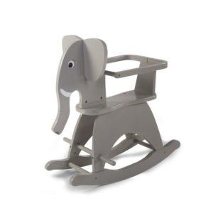 Childhome Schaukelpferd Elefant, Schaukelelefant in grau