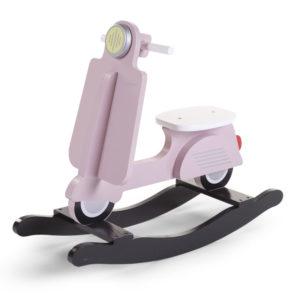 Childhome Schaukelpferd Scooter rosa im Vespa-Look 01