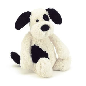 Jellycat Kuscheltier Bashful Black & Cream Puppy 18 cm (medium) 01