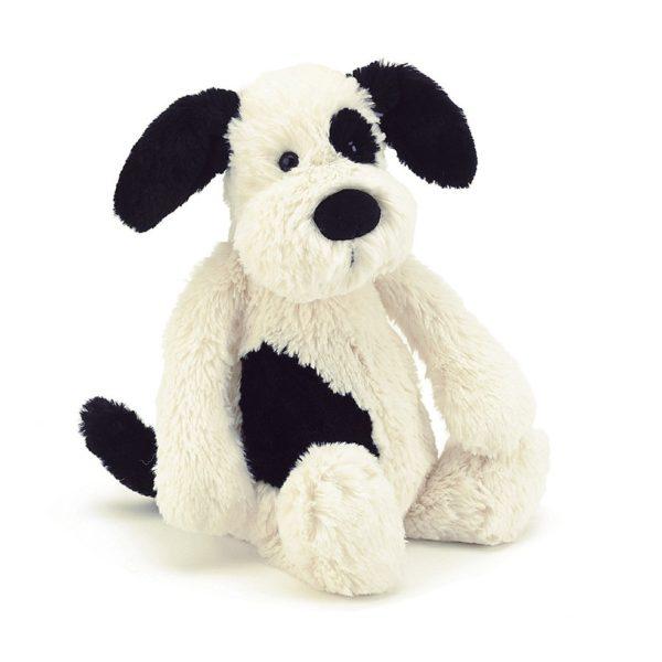 Jellycat Kuscheltier Bashful Black & Cream Puppy 18 cm (medium) 01