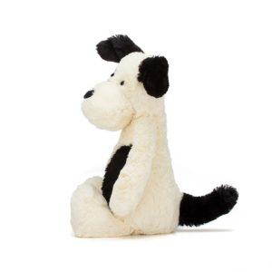 Jellycat Kuscheltier Bashful Black & Cream Puppy 18 cm (medium) 02