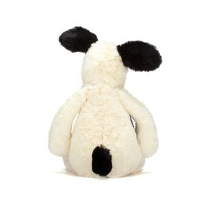 Jellycat Kuscheltier Bashful Black & Cream Puppy 18 cm (medium) 03