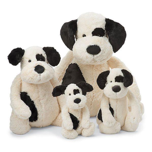 Jellycat Kuscheltier Bashful Black & Cream Puppy alle Größen