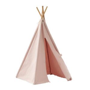 Kids Concept Tipi Zelt Mini rosa offen