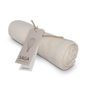 Saga Copenhagen Musselintuch Vidar, Ivory, Mulltuch in Bio-Baumwolle, 70 x 70 cm
