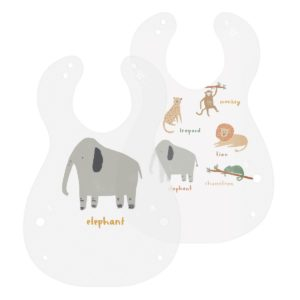 Sebra Kunststoff Lätzchen Wildlife, 2er Set