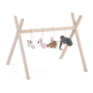 Childhome Tierköpfe-Set aus Filz für Spielbogen 1