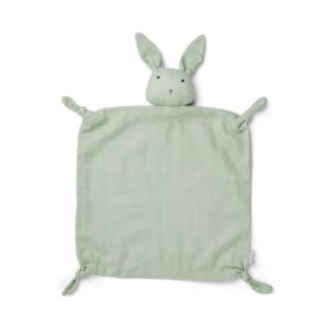 Liewood Agnete Kuscheltuch Rabbit dusty mint