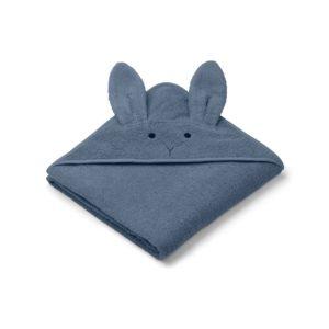 Liewood Kapuzenhandtuch Rabbit blue wave