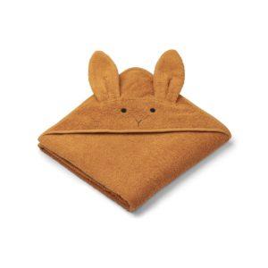 Liewood Kapuzenhandtuch Rabbit mustard