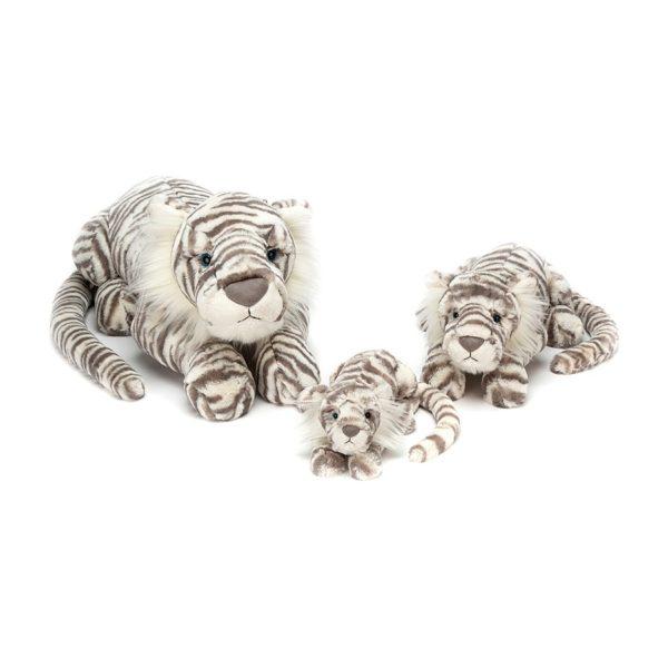 Jellycat Kuscheltier Snow Tiger in 3 Größen