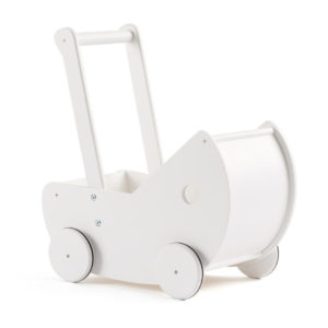 Kids Concept Puppenwagen weiß, inkl. Bettwäsche
