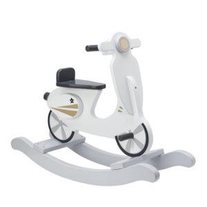 Kids Concept Schaukel-Scooter weiß aus Holz