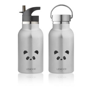 "Liewood Anker Trinkflasche ""Panda stainless steel"""