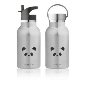 "Liewood Anker Trinkflasche ""Panda stainless steel"""