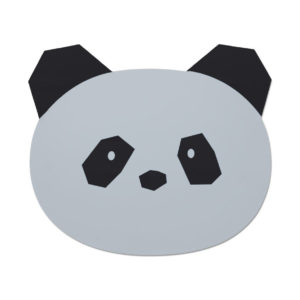 "Liewood Aura Silikon-Tischset ""Panda dumbo grey"""