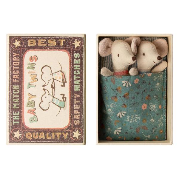 Maileg Baby Mäuse Zwillinge in der Box