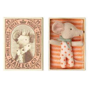 Maileg Baby Maus Mädchen in der Box