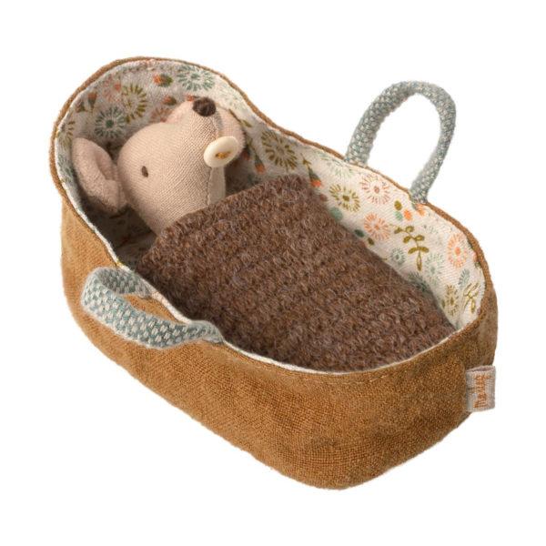 Maileg Baby Maus in der Tragetasche